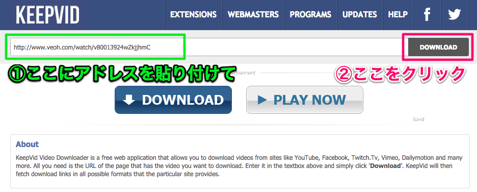 KeepVid_ Download online videos from Youtube, Vimeo, Twitch.Tv, Facebook, Dailymotion, Youku, Tudou, Metacafe and more!